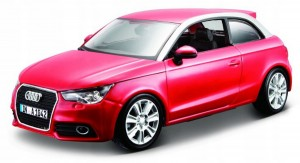 AUDI A1 1:24 BBURAGO MODEL METALOWY DO ZŁOŻENIA