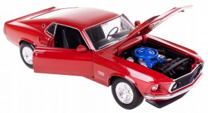 '69 FORD MUSTANG BOSS 429 MODEL METAL WELLY 1:24 B