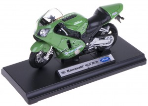 KAWASAKI NINJA ZX-12R MODEL METAL WELLY MOTOR 1:18