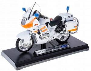 BMW R1100 RT POLICE METALOWY MODEL WELLY 1:18 biał