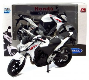 HONDA CB500F MODEL METAL/PLASTIK WELLY MOTOR 1:10