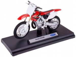 HONDA CR250R MODEL METAL/PLASTIK WELLY MOTOR 1:18