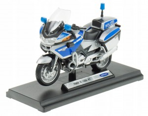 BMW R1200 RT POLICE METALOWY MODEL WELLY 1:18 nieb
