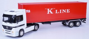 TIR MERCEDES-BENZ ACTROS K.LINE METAL WELLY 1:32