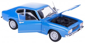 1969 FORD CAPRI MODEL METAL WELLY 1:24 NIEBIESKI
