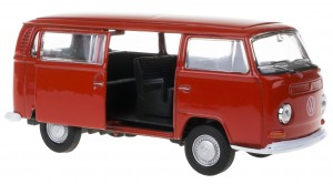 `72 VOLKSWAGEN BUS T2 MODEL METALOWY WELLY 1:34
