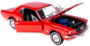1964 1/2 MUSTANG COUPE MODEL METAL WELLY 1:24 CZER