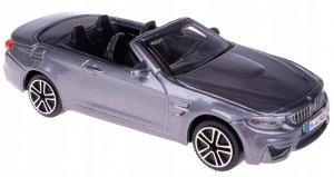 BMW M4 CABRIO MODEL METAL BBURAGO 1:43 GRAFITOWY