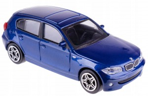 BMW 1 SERIES 120D MODEL METAL BBURAGO 1:43 GRANATOWE