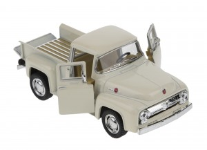 `56 FORD F-100 PICKUP 1:38 MODEL METALOWY KREMOWY