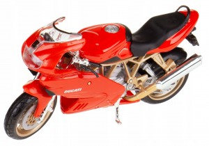 DUCATI SUPERSPORT 900 METAL/PLA MODEL BBURAGO 1:18