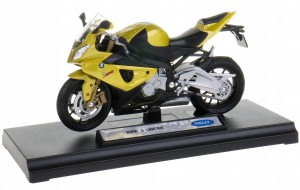 BMW S1000 RR MODEL WELLY MOTOCYKL ŚCIGACZ 1:18