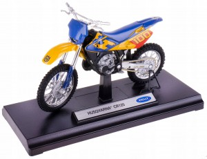 HUSQVARNA CR125 MODEL METAL WELLY MOTOR 1:18