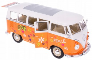1963 VOLKSWAGEN HIPIS BUS T1 MODEL WELLY 1:24 POM
