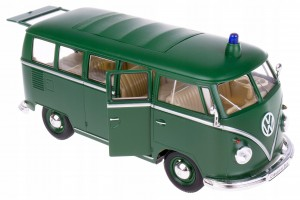 1963 VOLKSWAGEN POLICJA BUS T1 MODEL WELLY 1:24