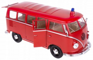 1963 VOLKSWAGEN STRAŻ BUS T1 MODEL WELLY 1:24