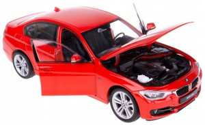 BMW 335i MODEL METALOWY WELLY 1:24 CZERWONY