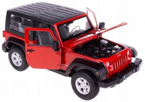 2007 JEEP WRANGLER MODEL METAL WELLY 1:24 BORDOWY