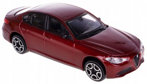 ALFA ROMEO GIULIA MODEL METAL. BBURAGO 1:43 BORDO