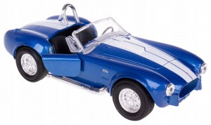 1965 SHELBY COBRA 427S/C MODEL METAL WELLY 1:34 NI