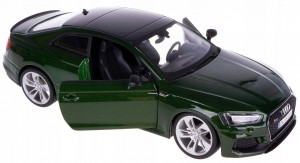AUDI RS 5 MODEL METALOWY BBURAGO 1:24 ZIELONE NEW!