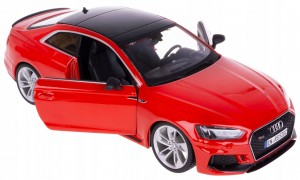 AUDI RS 5 MODEL METALOWY BBURAGO 1:24 CZERWONE NEW